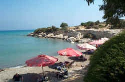The view of the sea from the Melanda Beach Taverna